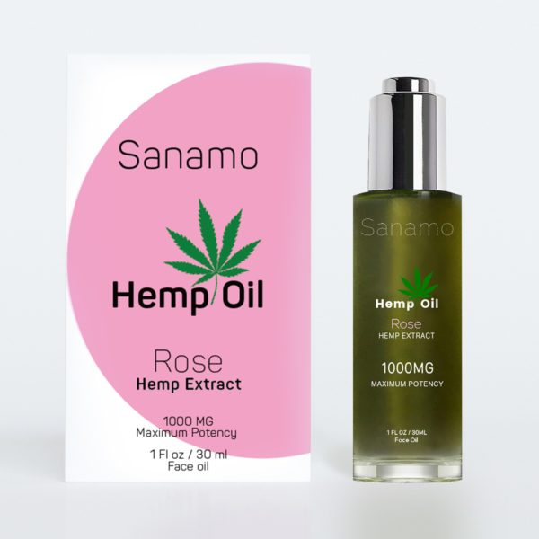 Pack of 30ML Hemp Oil, Rose Hempe Extract, SkinNotes By Sanamo